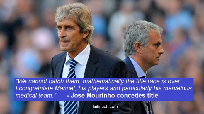 Mourinho concedes title to Man City
