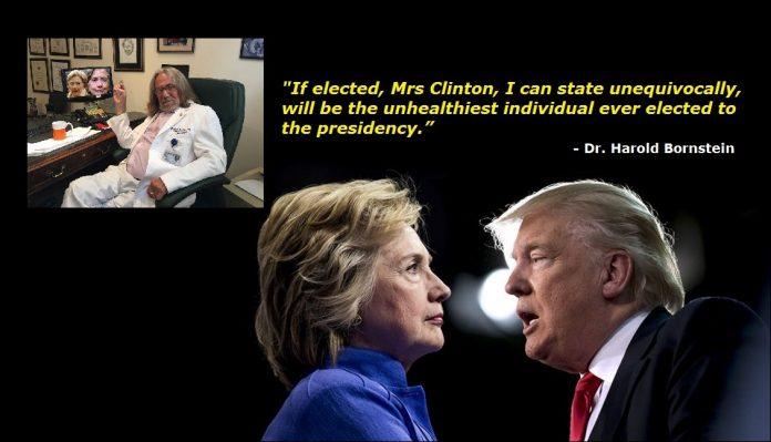 Trump's doctor: Hillary Clinton Unhealthiest President Ever