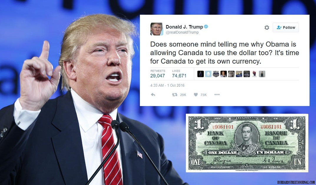 Trump Claims Its Time For Canada To Get Own Currency With Note Blames Bad Economy Demands They