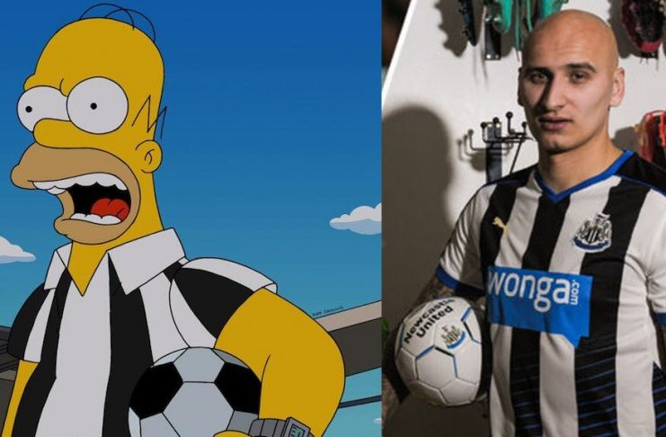 In 2004 The Simpsons predicted the unknown JonJo Shelvy would sign for Newcastle Utd. What happened next will shock you.