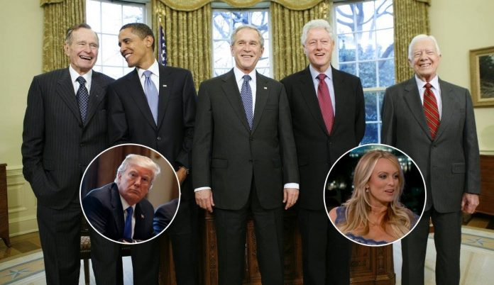 Trump Asks Former Presidents What They Did When They Were Sued By A Pornstar | Trump Former Presidents