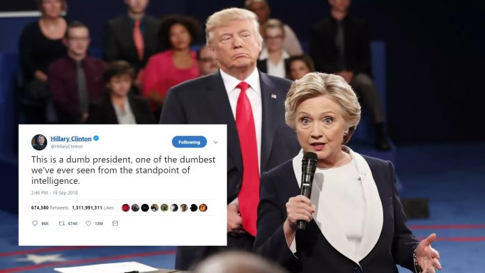 Hillary calls Trump one of the dumbest presidents ever