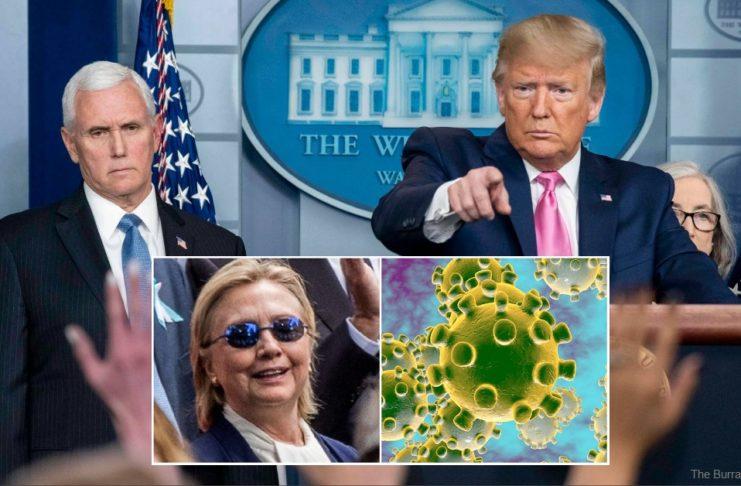 Trump Declares Hillary Clinton Is Coronavirus Patient Zero