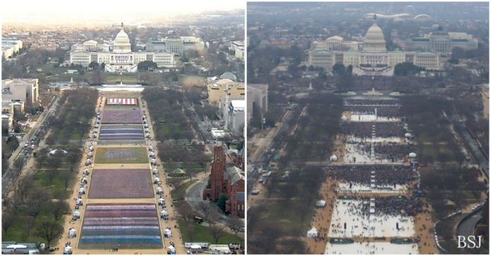 Trump Mocks Biden Over Size Of Inauguration Crowd   Biden Inauguration Crowd v Trump's